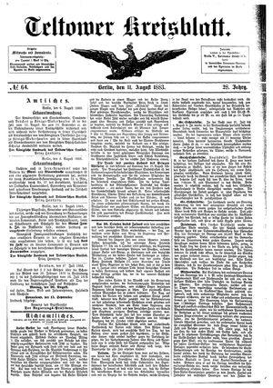 Teltower Kreisblatt vom 11.08.1883