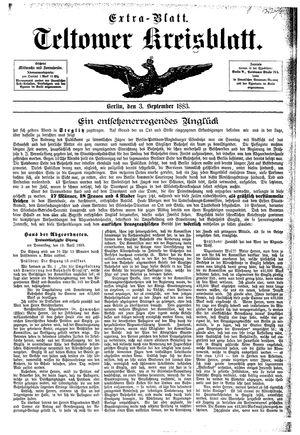 Teltower Kreisblatt vom 03.09.1883