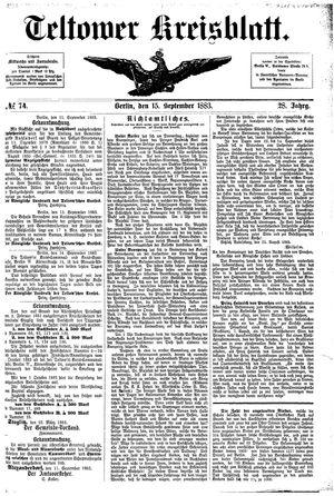 Teltower Kreisblatt vom 15.09.1883