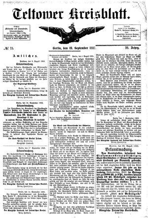 Teltower Kreisblatt vom 19.09.1883