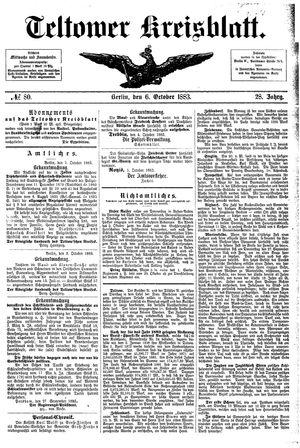 Teltower Kreisblatt vom 06.10.1883