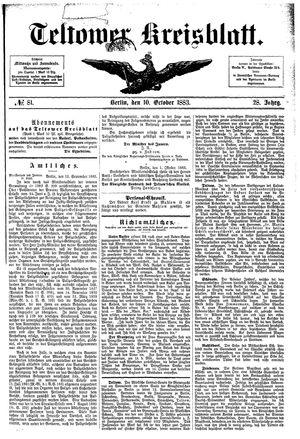 Teltower Kreisblatt vom 10.10.1883