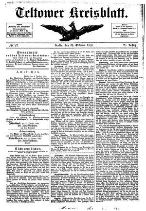 Teltower Kreisblatt vom 13.10.1883