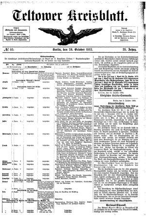 Teltower Kreisblatt vom 24.10.1883