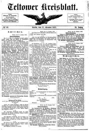 Teltower Kreisblatt vom 27.10.1883