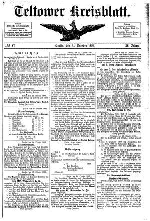 Teltower Kreisblatt vom 31.10.1883
