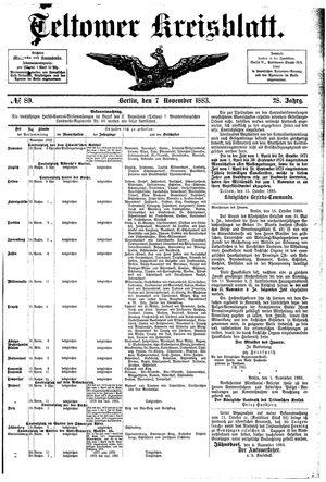 Teltower Kreisblatt vom 07.11.1883