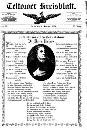 Teltower Kreisblatt vom 10.11.1883