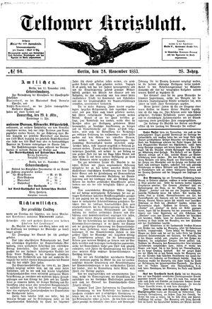 Teltower Kreisblatt vom 24.11.1883