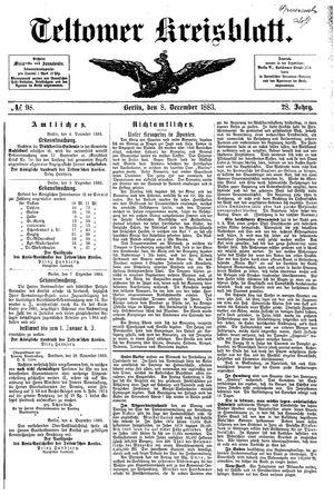 Teltower Kreisblatt vom 08.12.1883