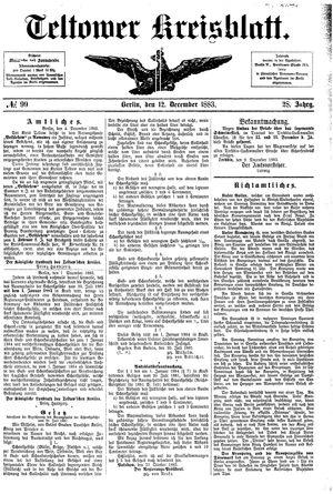Teltower Kreisblatt vom 12.12.1883