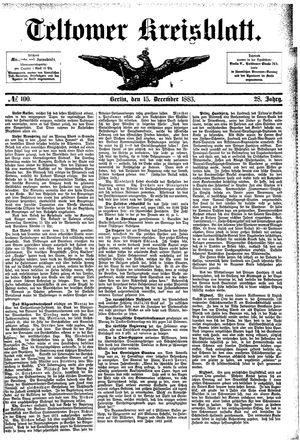 Teltower Kreisblatt vom 15.12.1883