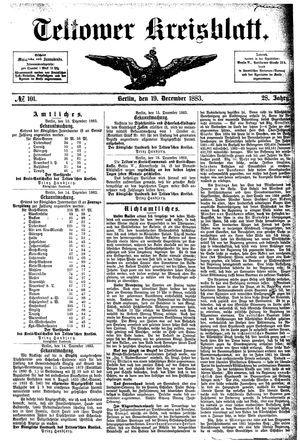Teltower Kreisblatt vom 19.12.1883