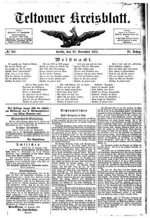 Teltower Kreisblatt vom 22.12.1883