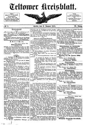 Teltower Kreisblatt vom 09.01.1884