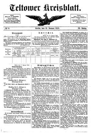 Teltower Kreisblatt vom 19.01.1884