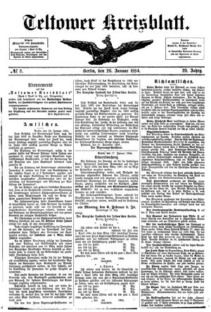 Teltower Kreisblatt on Jan 26, 1884