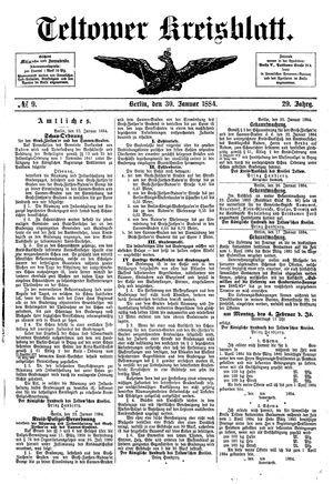 Teltower Kreisblatt vom 30.01.1884