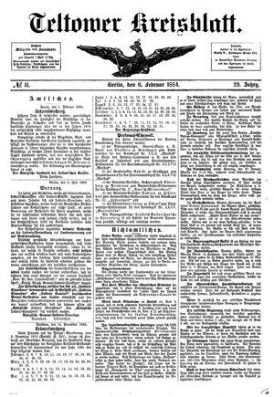 Teltower Kreisblatt vom 06.02.1884
