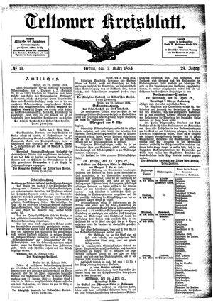 Teltower Kreisblatt vom 05.03.1884