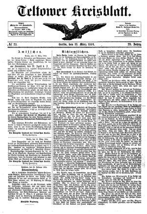 Teltower Kreisblatt vom 19.03.1884
