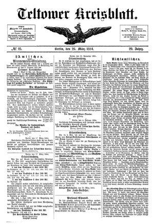 Teltower Kreisblatt on Mar 26, 1884