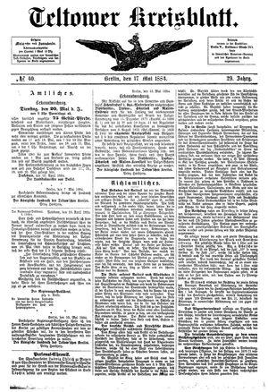 Teltower Kreisblatt vom 17.05.1884