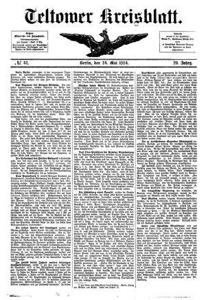 Teltower Kreisblatt vom 24.05.1884