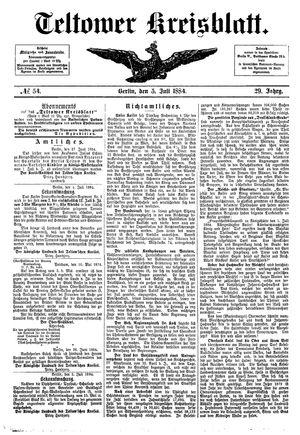 Teltower Kreisblatt on Jul 5, 1884