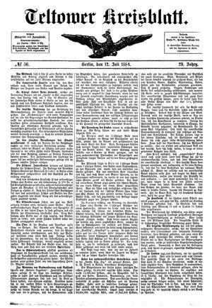 Teltower Kreisblatt vom 12.07.1884