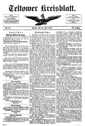 Teltower Kreisblatt vom 19.07.1884