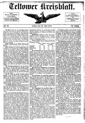 Teltower Kreisblatt vom 23.07.1884