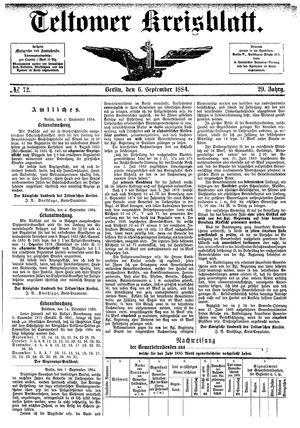 Teltower Kreisblatt vom 06.09.1884