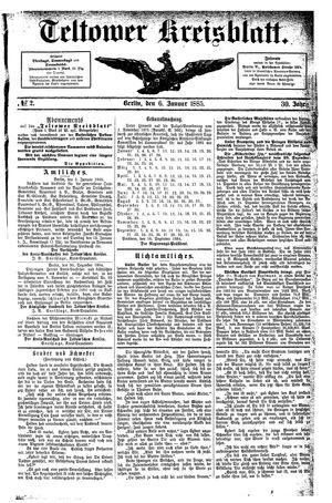 Teltower Kreisblatt vom 06.01.1885