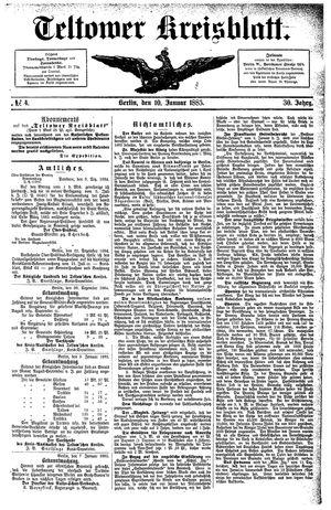Teltower Kreisblatt on Jan 10, 1885