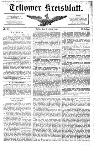 Teltower Kreisblatt vom 03.03.1885