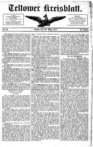 Teltower Kreisblatt vom 10.03.1885