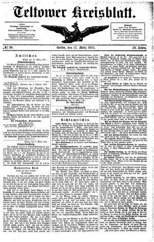 Teltower Kreisblatt vom 12.03.1885