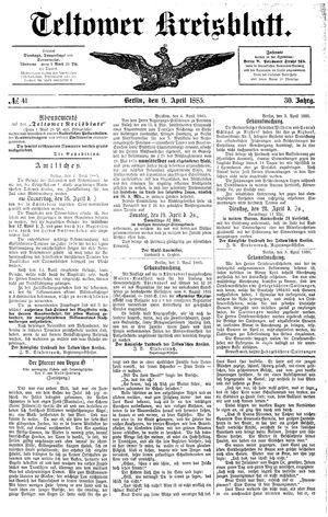 Teltower Kreisblatt vom 09.04.1885
