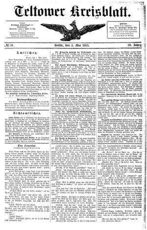 Teltower Kreisblatt on May 5, 1885