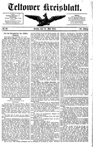 Teltower Kreisblatt vom 16.05.1885