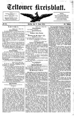 Teltower Kreisblatt vom 04.06.1885