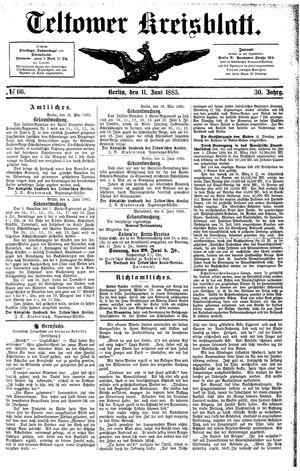 Teltower Kreisblatt vom 11.06.1885