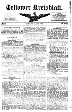 Teltower Kreisblatt vom 13.06.1885