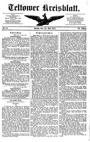 Teltower Kreisblatt vom 23.07.1885