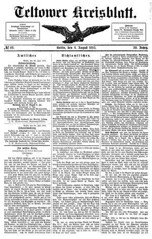 Teltower Kreisblatt vom 04.08.1885