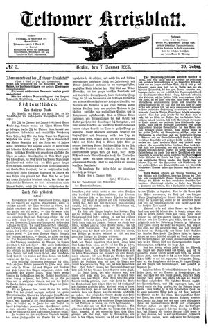 Teltower Kreisblatt vom 07.01.1886