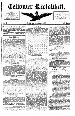 Teltower Kreisblatt vom 16.01.1886