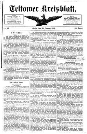Teltower Kreisblatt vom 30.01.1886