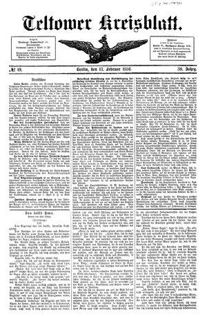 Teltower Kreisblatt vom 13.02.1886